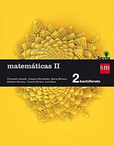 Matemáticas Segundo Bachillerato SM Savia